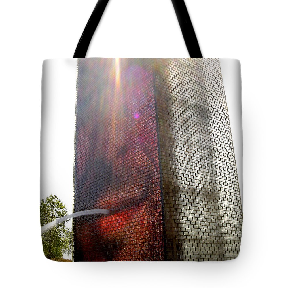 Chicago Tote Bag featuring the photograph Chicago Crown Fountain 4 by Jean Macaluso