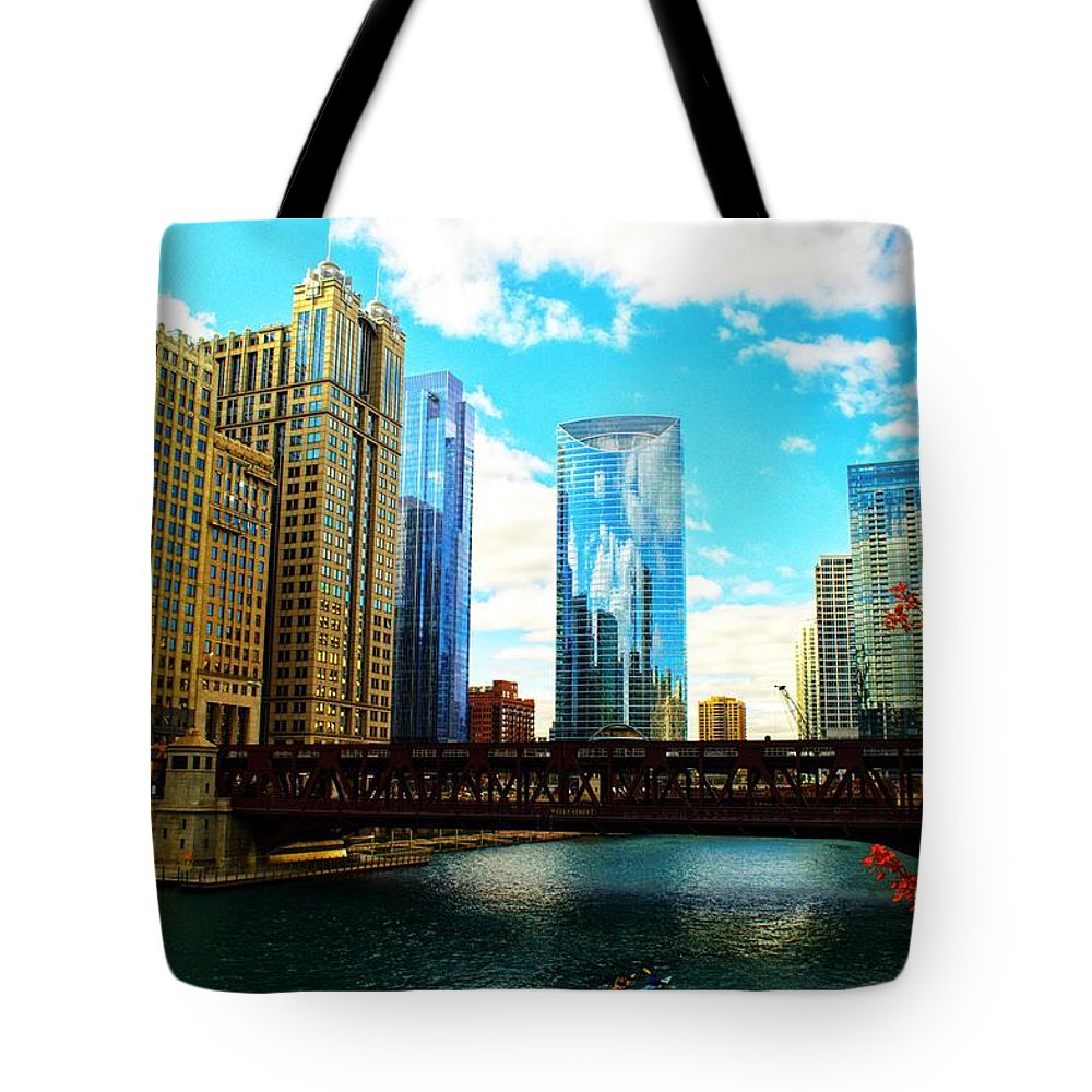 Chicago Tote Bag featuring the photograph Chicago Fall by Joseph Caban