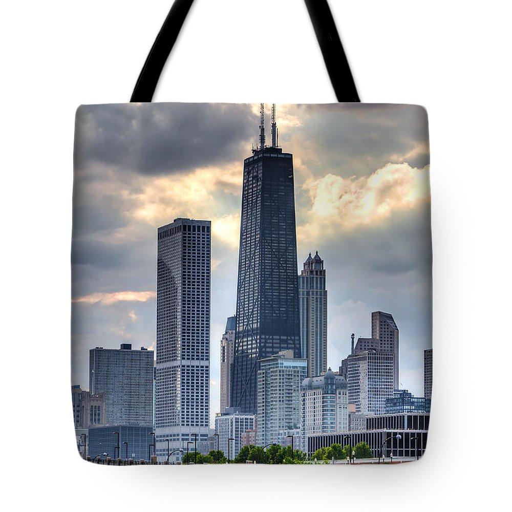 Hancock Building Tote Bags