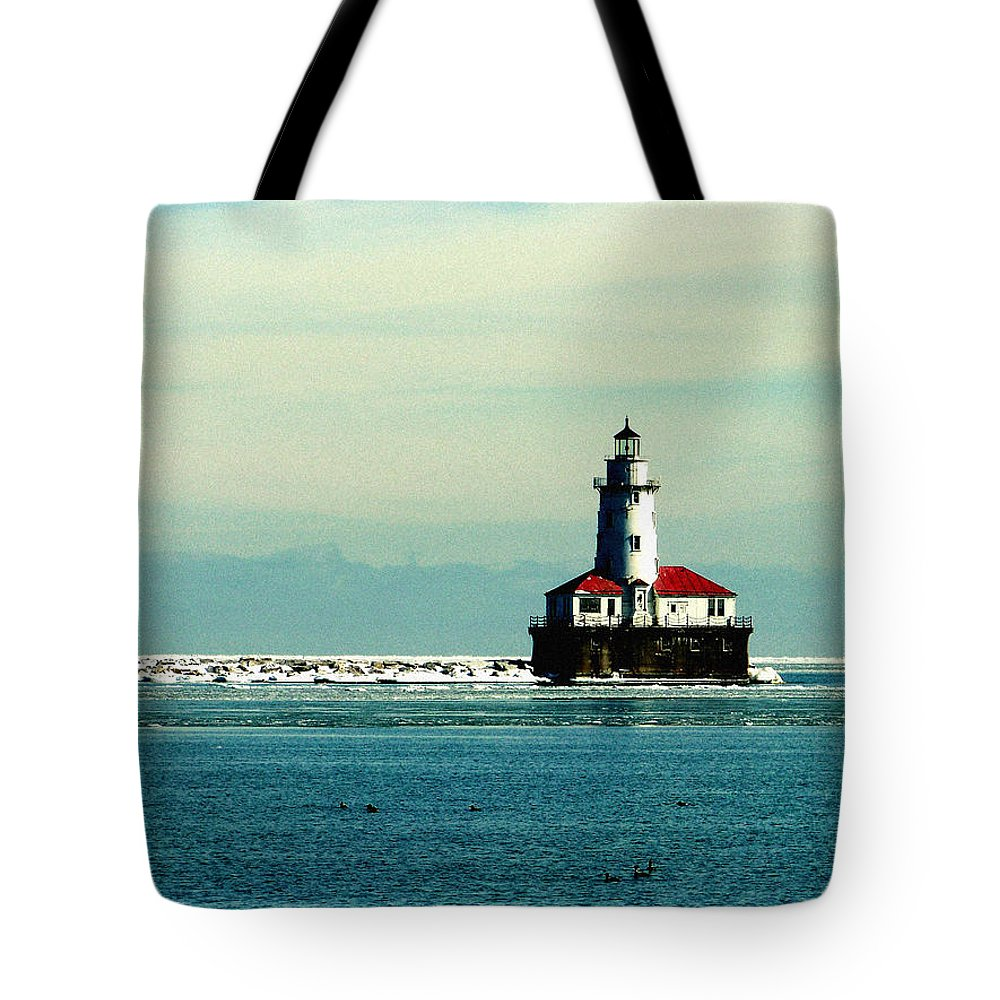 Harbor Lighthouse Tote Bag featuring the photograph Chicago Harbor Light by Kyle Hanson