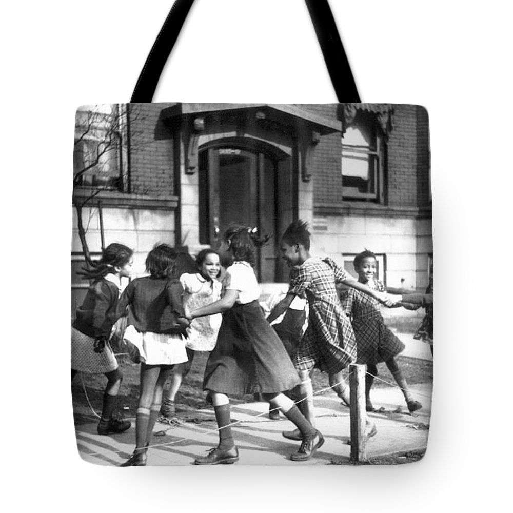 1941 Tote Bag featuring the photograph Chicago, Illinois, 1941 by Granger