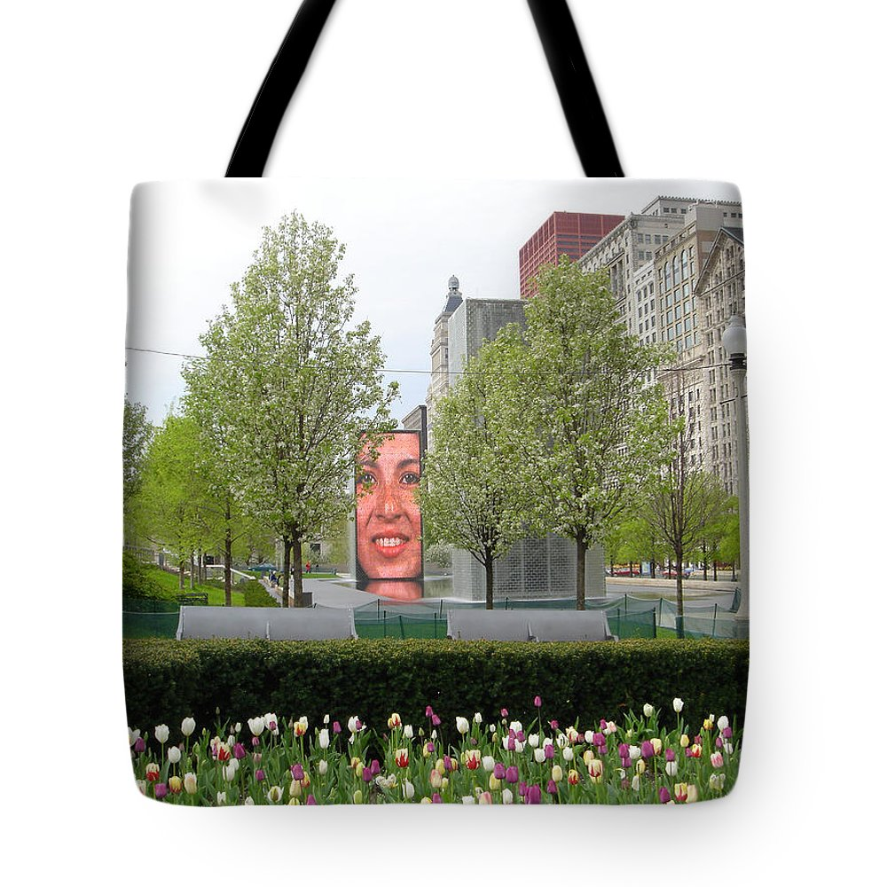 Chicago Tote Bag featuring the photograph Chicago by Jean Macaluso
