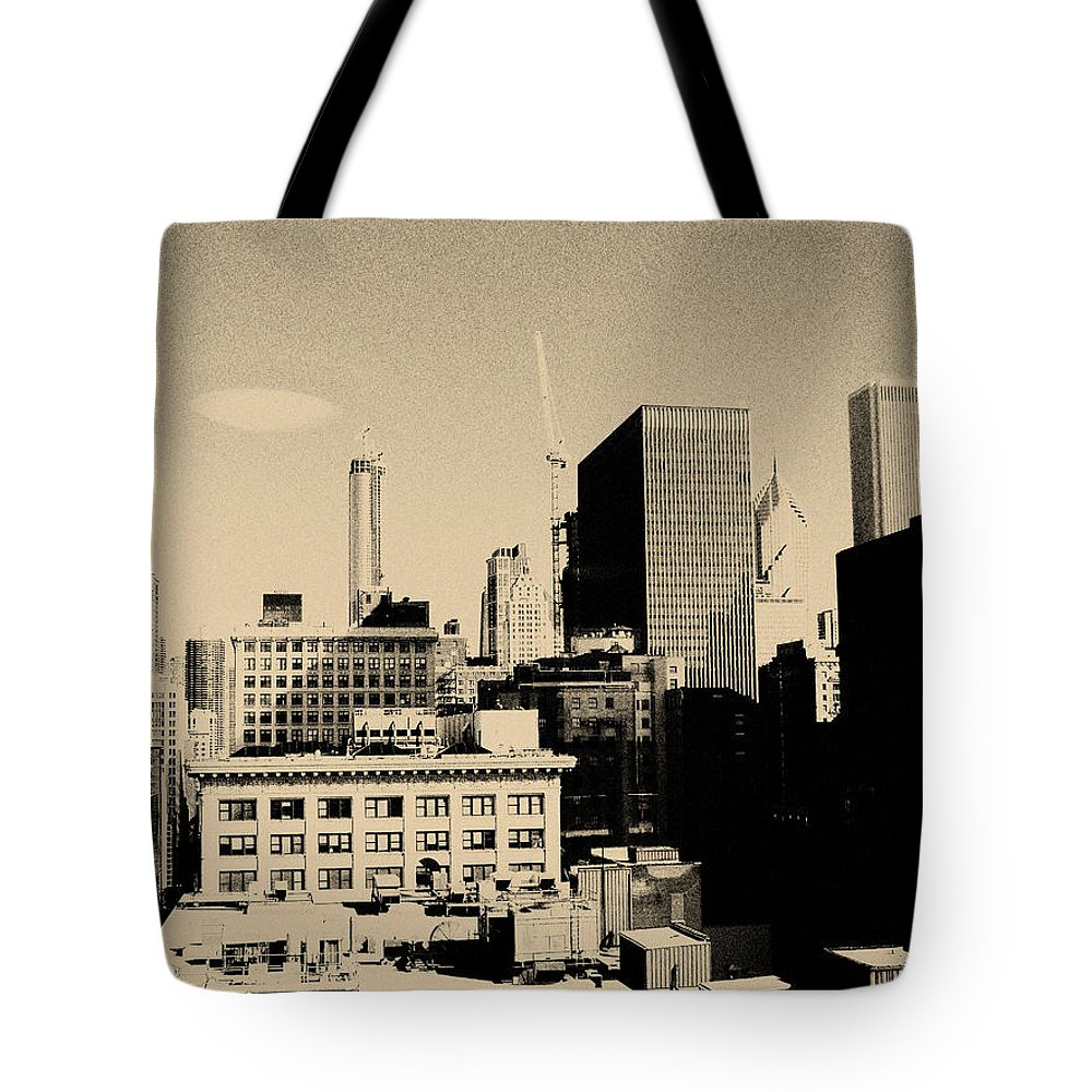 Chicago Tote Bag featuring the photograph Chicago Loop Skyline by Kyle Hanson