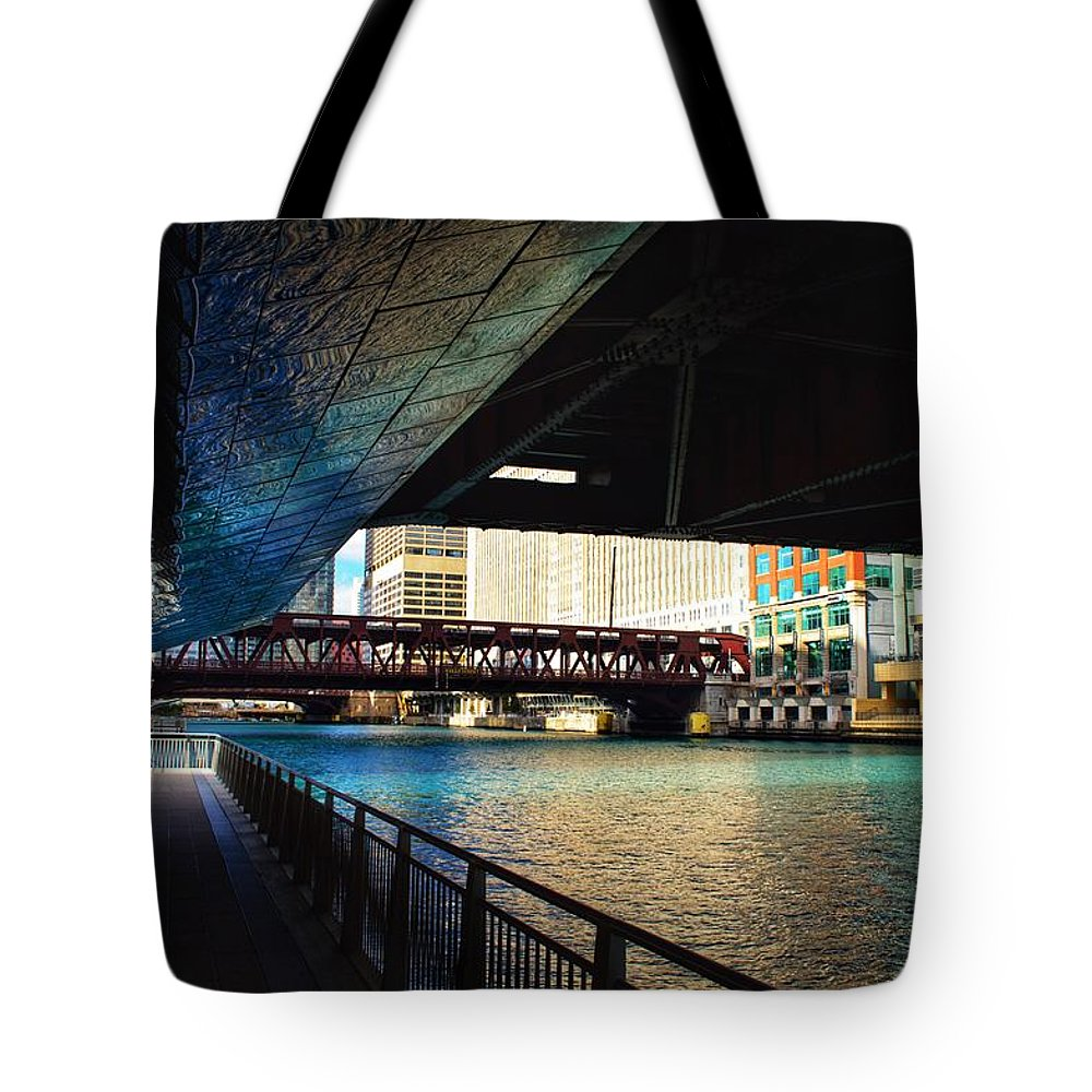 Chicago Tote Bag featuring the photograph Chicago Water by Joseph Caban