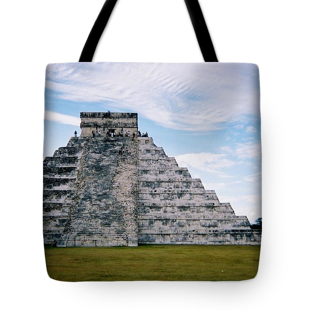 Chitchen Itza Tote Bag featuring the photograph Chichen Itza 4 by Anita Burgermeister