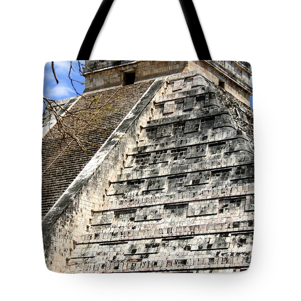 Chichen Itza Tote Bag featuring the photograph Chichen Itza Up Close by Chris Brannen