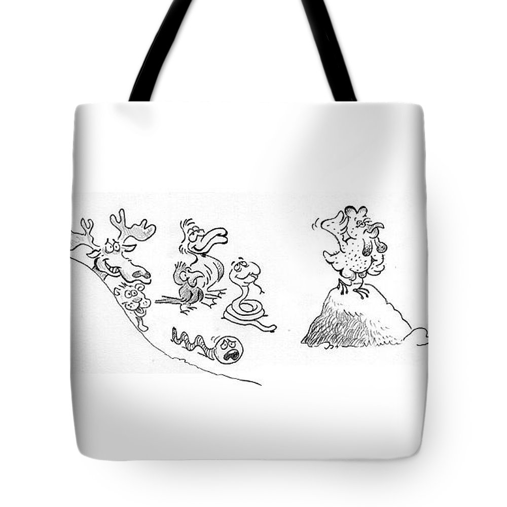 Beautiful Chicken Tote Bag featuring the drawing Chicken by Ersin Ipek