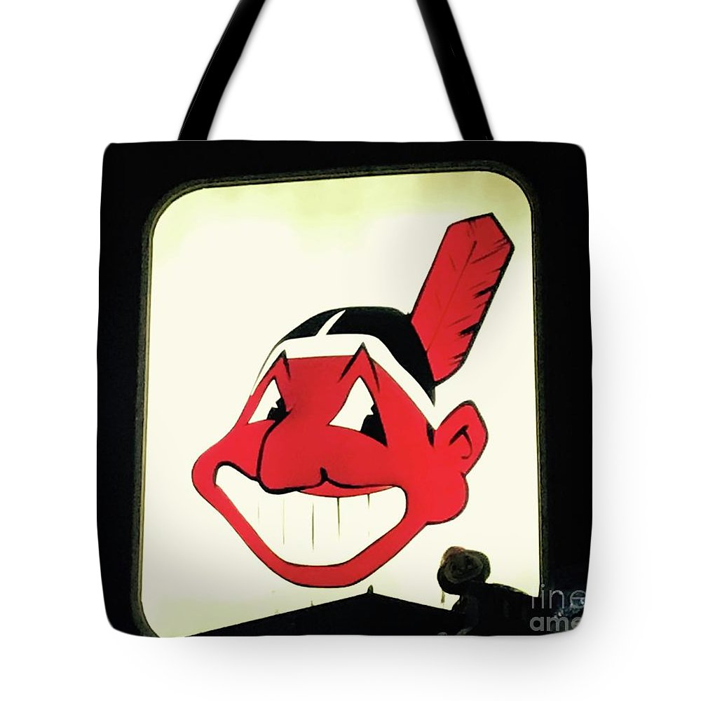 Chief Wahoo Tote Bag featuring the photograph Chief Wahoo by Michael Krek