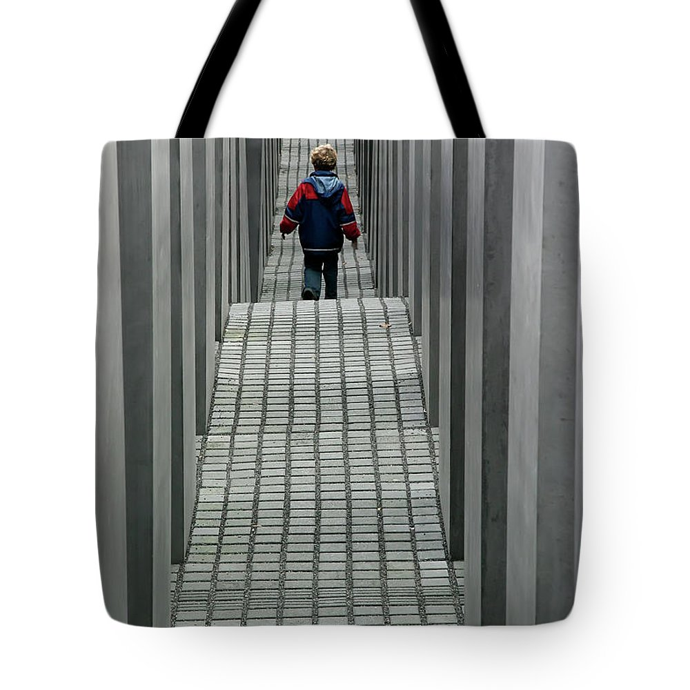 Berlin Tote Bag featuring the photograph Child In Berlin by KG Thienemann