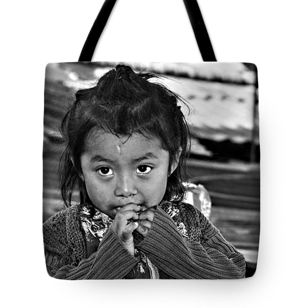 Portrait Tote Bag featuring the photograph Child Portrait by Gianni Bussu