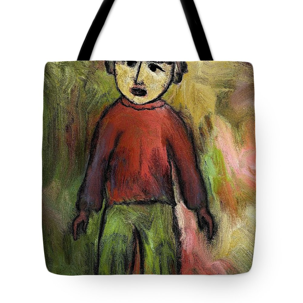 Child Tote Bag featuring the painting Child by Rafi Talby