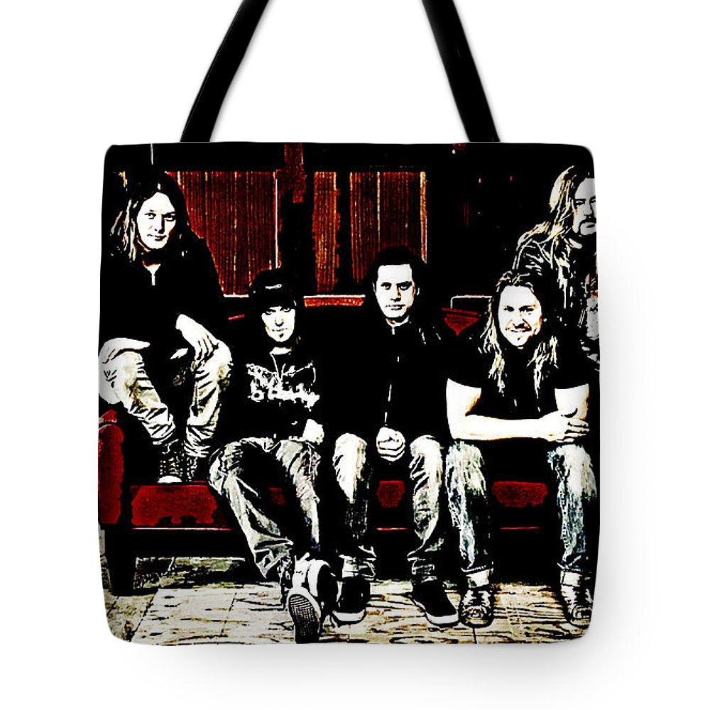 Children Of Bodom Tote Bag featuring the digital art Children Of Bodom by Lora Battle