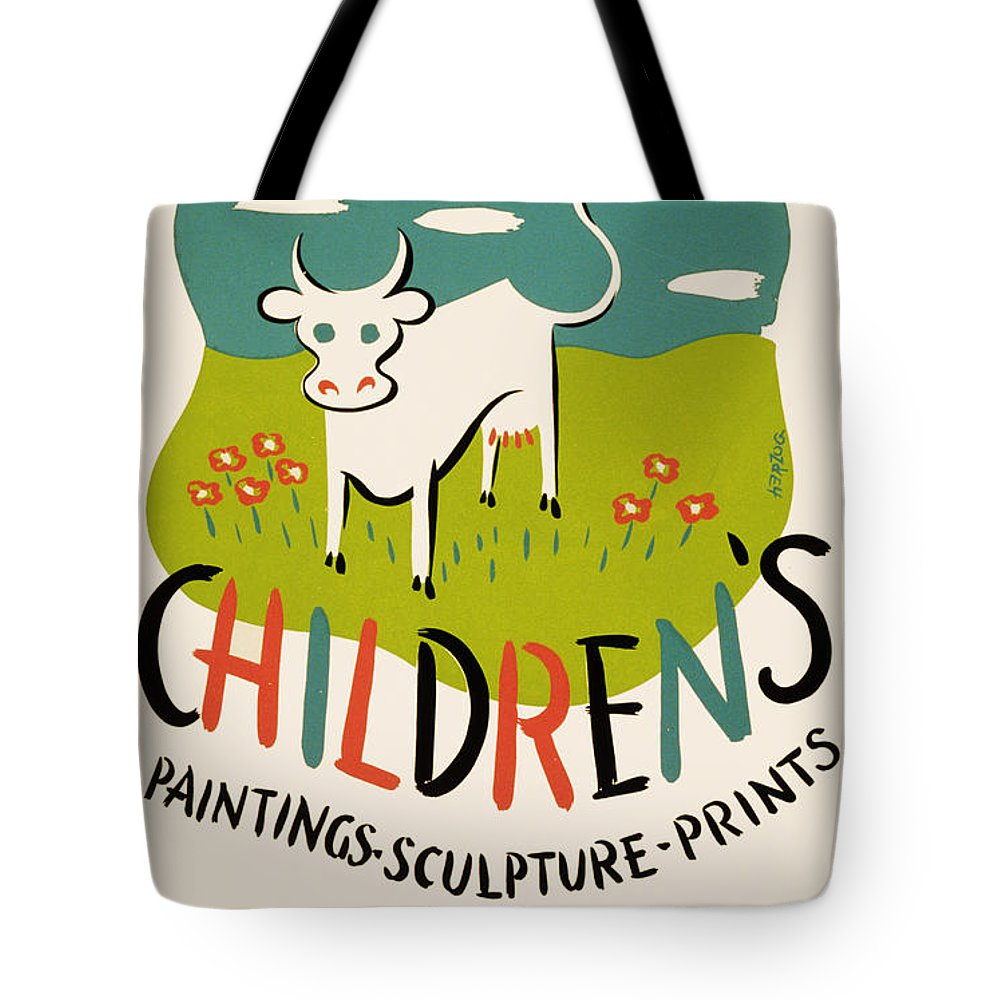 Children's Paintings-sculpture-prints Tote Bag featuring the painting Children's Paintings-sculpture-prints by Celestial Images