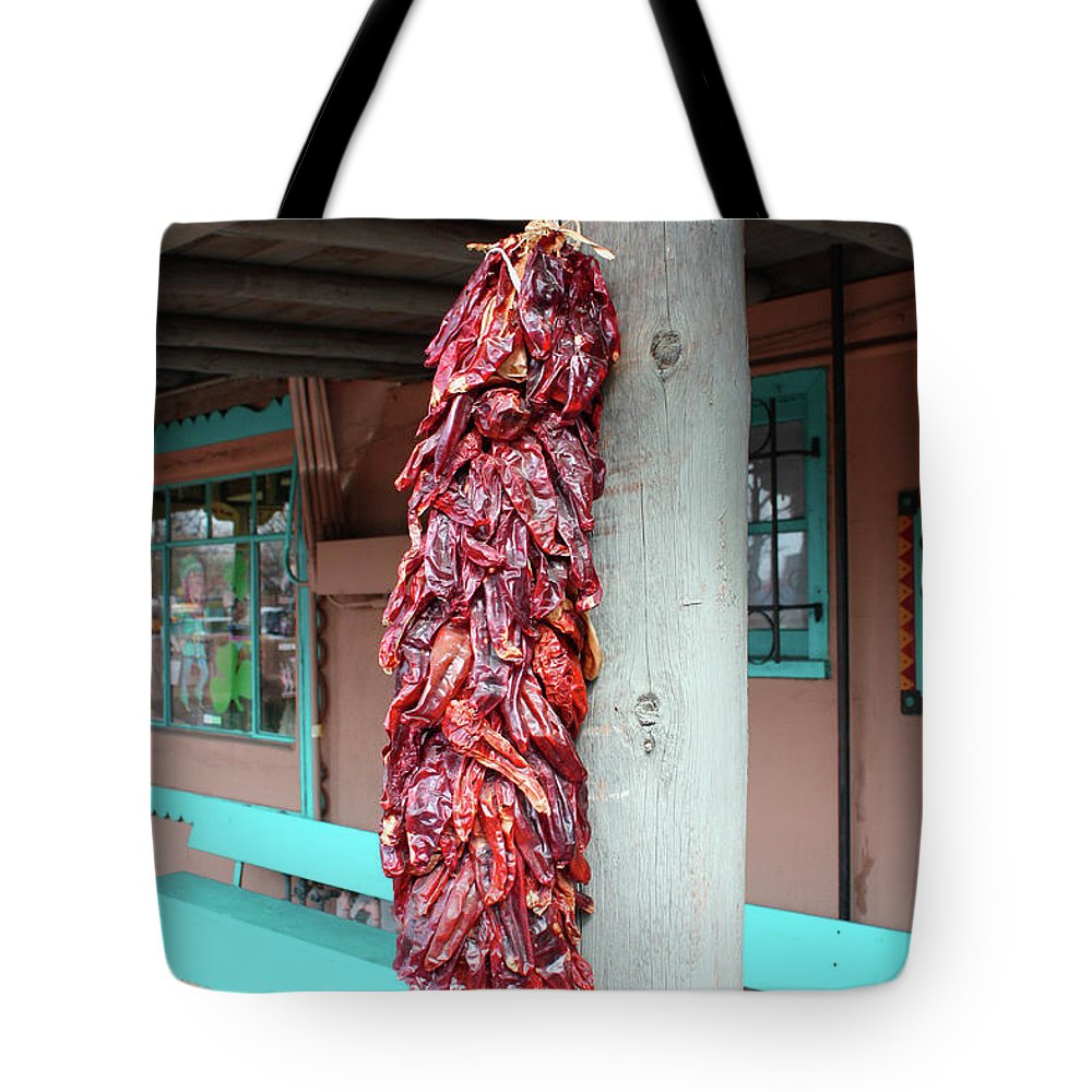 Chilies Tote Bag featuring the photograph Chilies In Albuquerque by Tommy Anderson
