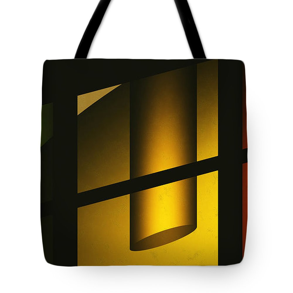 Abstract Tote Bag featuring the digital art Chiming Lights by Richard Rizzo