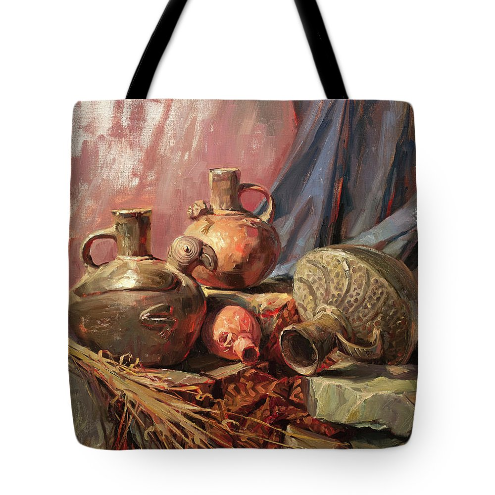 Clay Pot Tote Bags