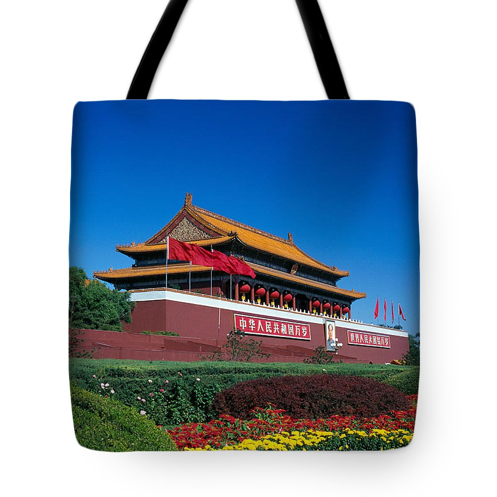 Architecture Tote Bag featuring the photograph China, Beijing by Gloria & Richard Maschmeyer - Printscapes