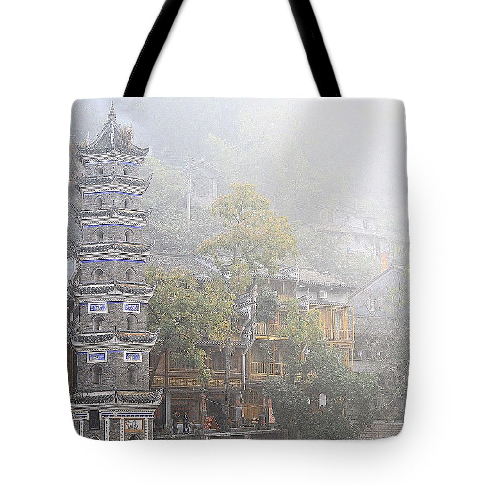 Landscape Tote Bag featuring the photograph China City by Philip Hp Wong