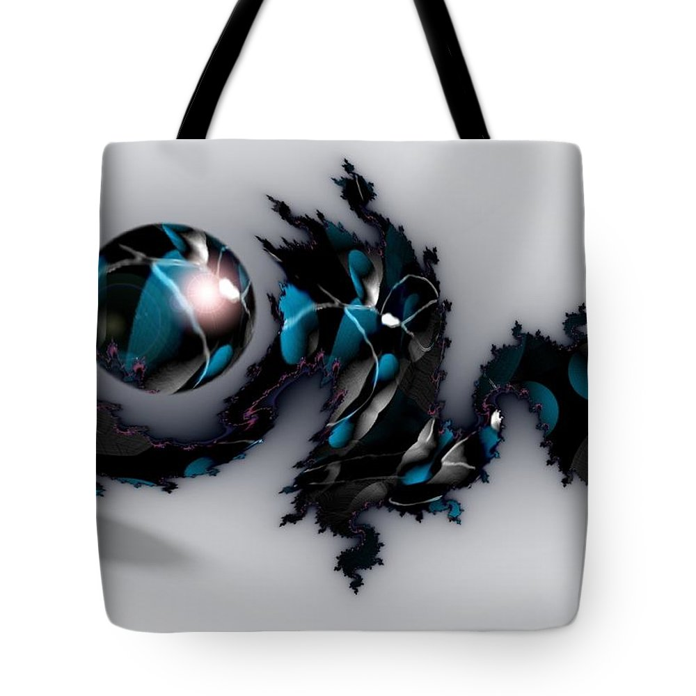 China Dragon Rythm Float Dance Tote Bag featuring the digital art China Dragon by Veronica Jackson