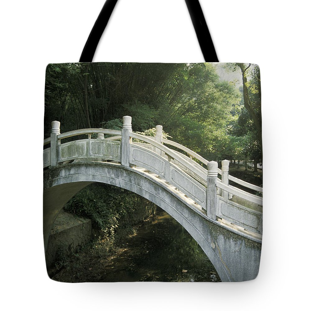 Arch Tote Bag featuring the photograph China, Guilin by Larry Dale Gordon - Printscapes