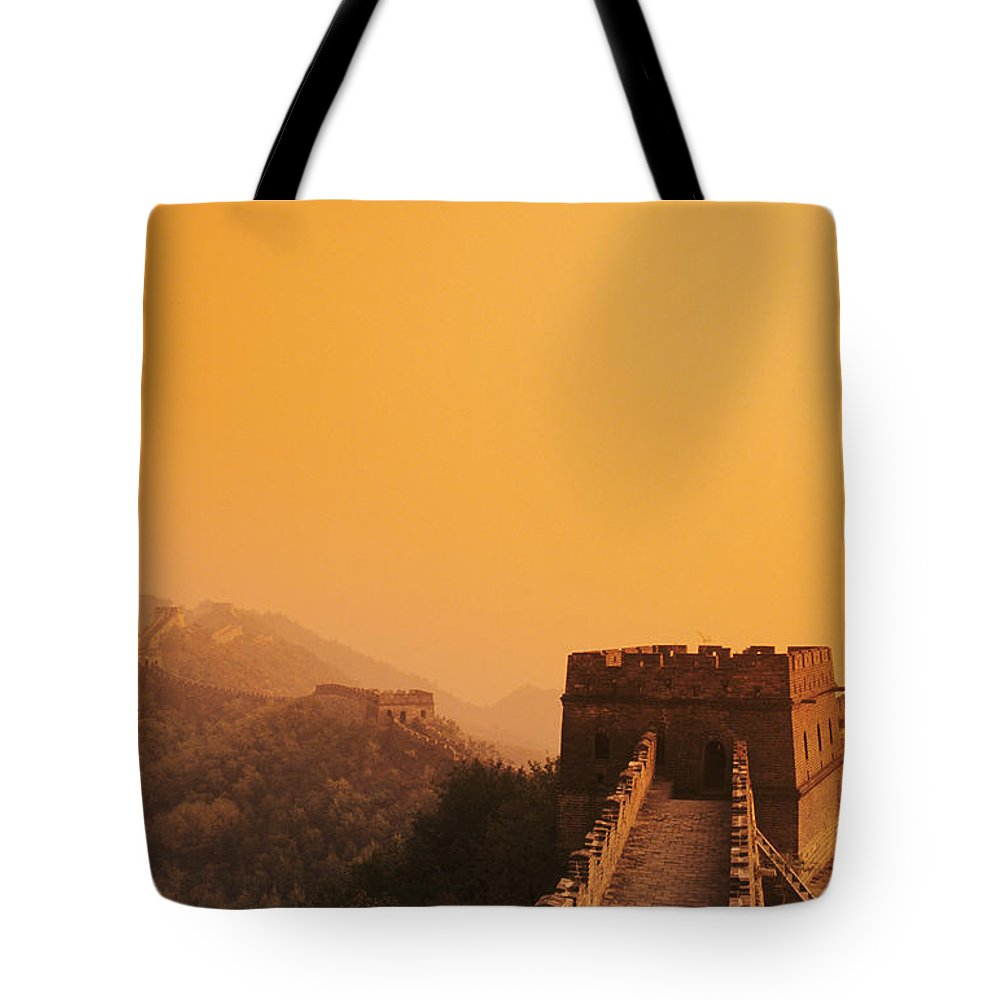 Afar Tote Bag featuring the photograph China, Mu Tian Yu by Gloria & Richard Maschmeyer - Printscapes