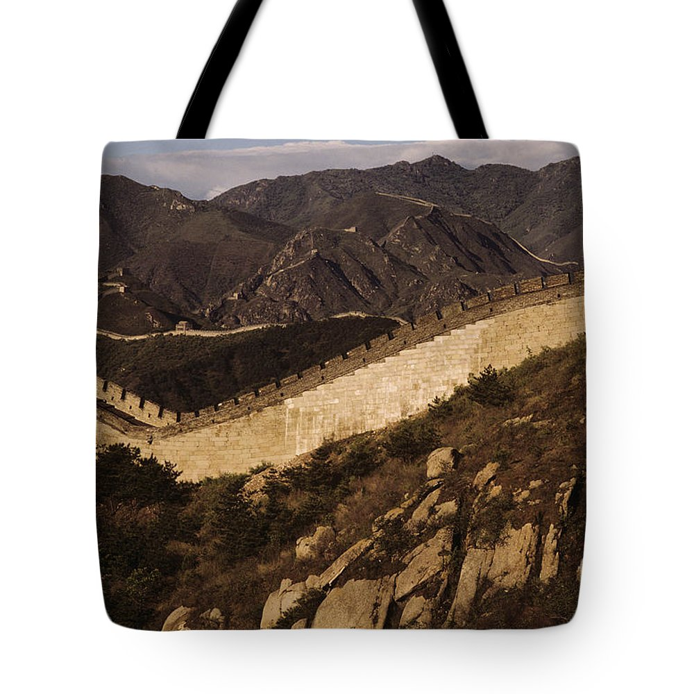 Afternoon Tote Bag featuring the photograph China, Mu Tian Yu by Larry Dale Gordon - Printscapes