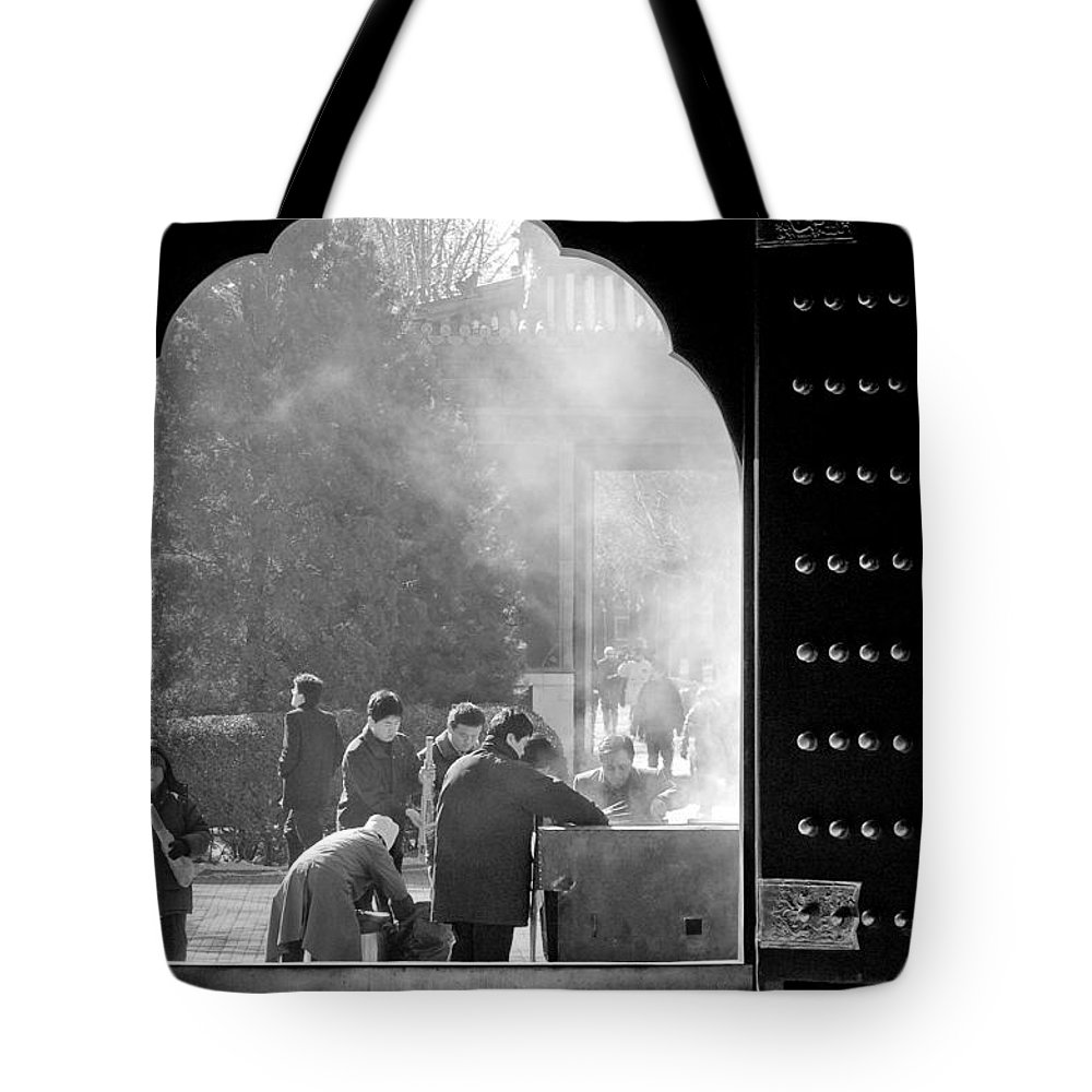 China Tote Bag featuring the photograph China Temple by Sebastian Musial