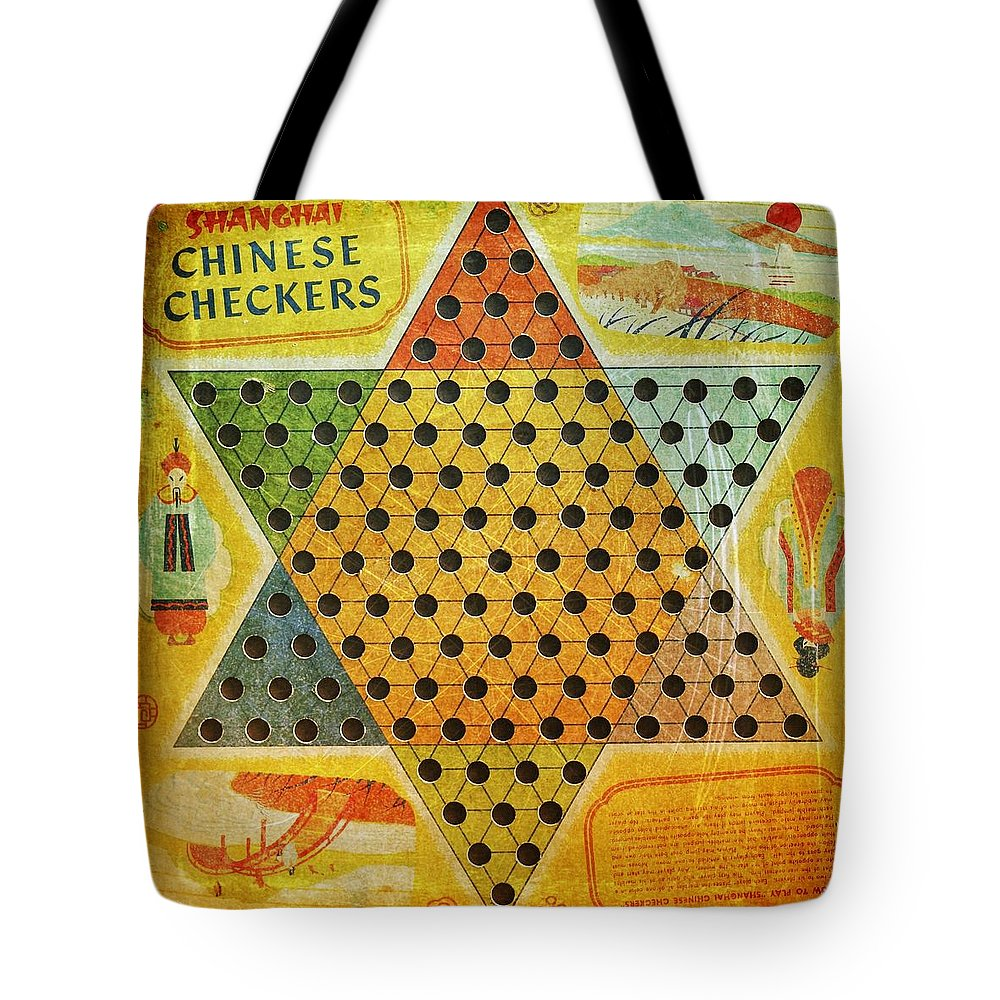 Game Tote Bag featuring the photograph Chinese Checkers by Modern Art