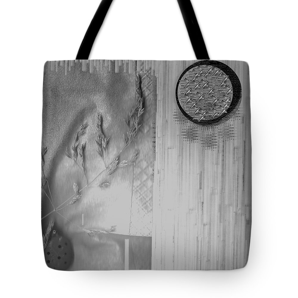 Straw Tote Bag featuring the mixed media Chinese Garden by Pepita Selles