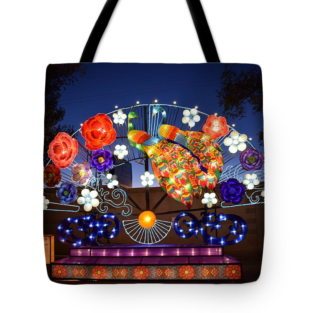 Lanterns Tote Bag featuring the photograph Chinese Lantern Festival by Kirsten S