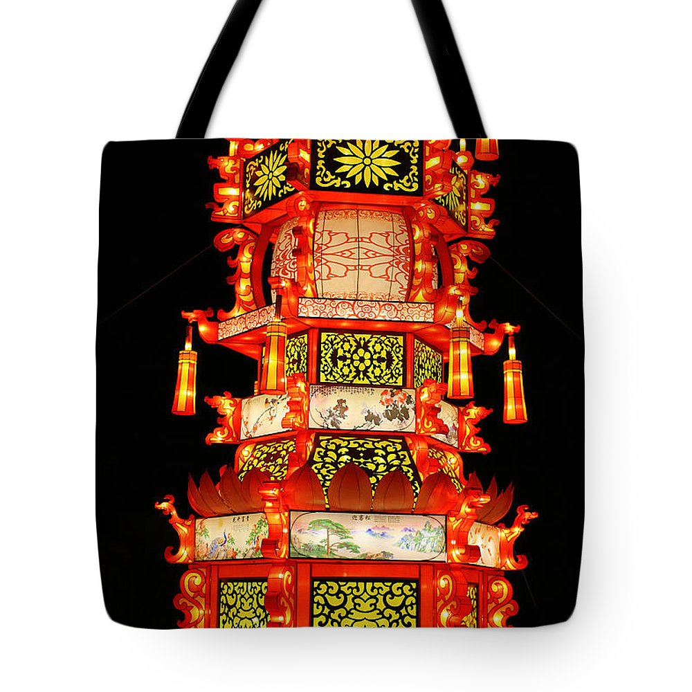 Chinese Tote Bag featuring the photograph Chinese Lantern by Kayvee Photography