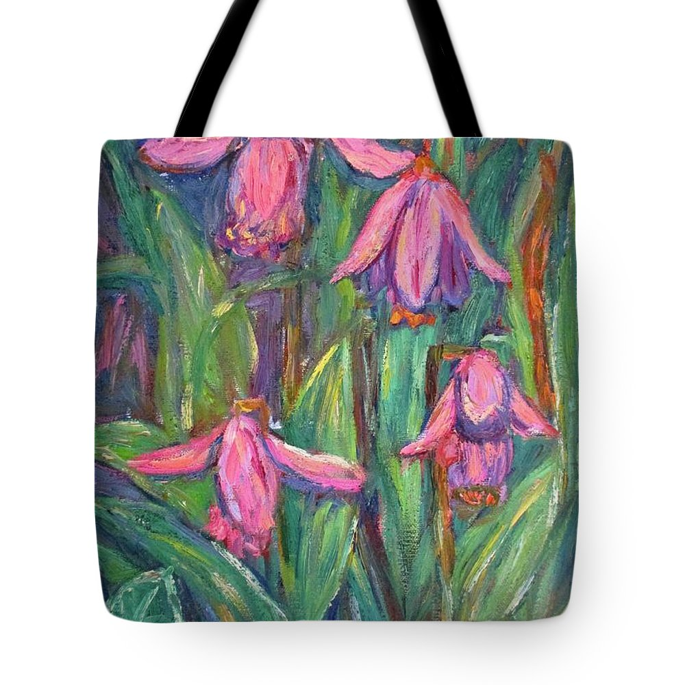 Floral Tote Bag featuring the painting Chinese Orchids by Kendall Kessler