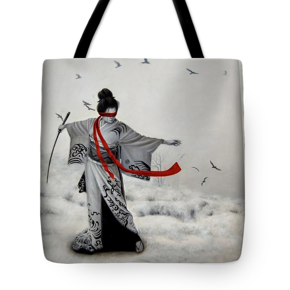 Women Tote Bag featuring the painting Chio Chio San by Nataliya Bagatskaya