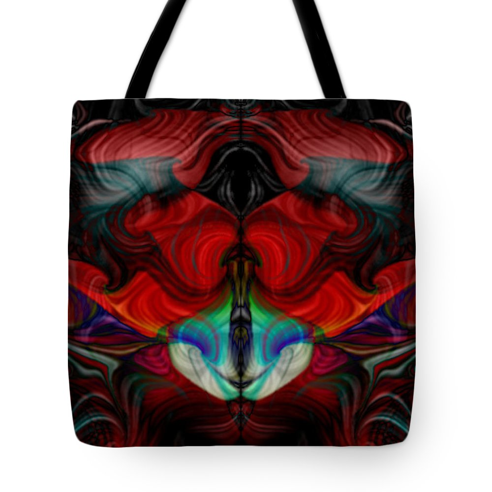 Abstract Tote Bag featuring the digital art Chipmonk by Mark Didine