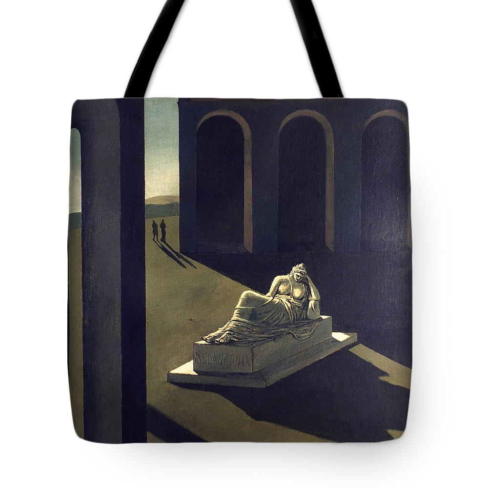 1914 Tote Bag featuring the photograph Chirico: Melancolie, 1914 by Granger