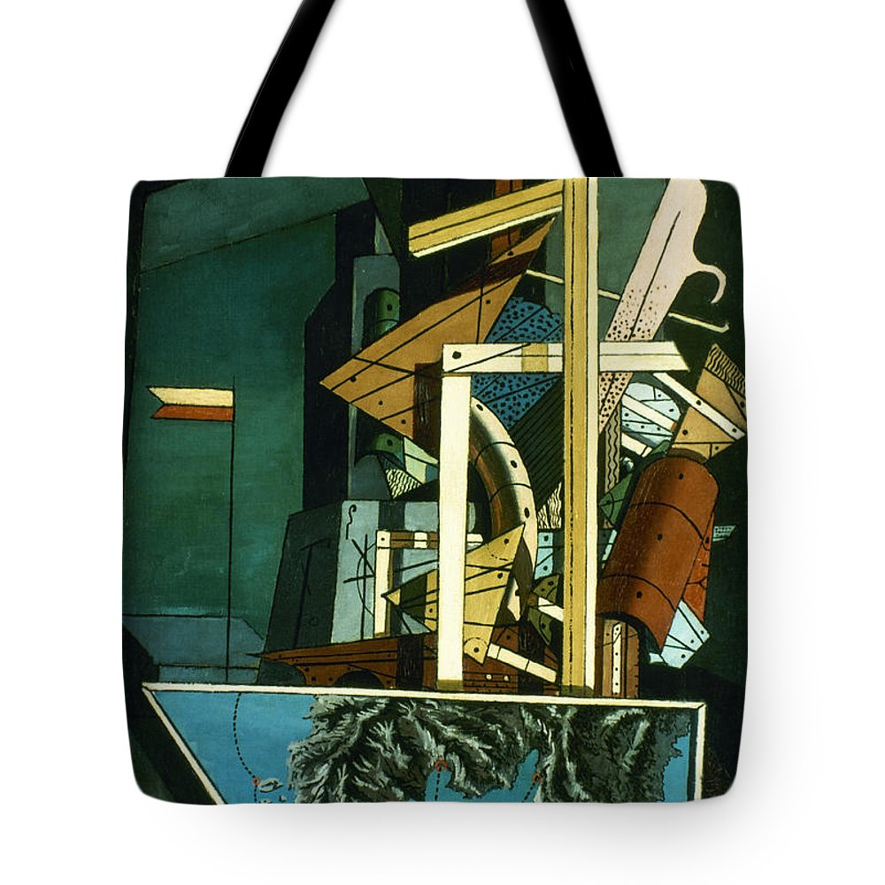 1916 Tote Bag featuring the photograph Chirico: Melancolie by Granger