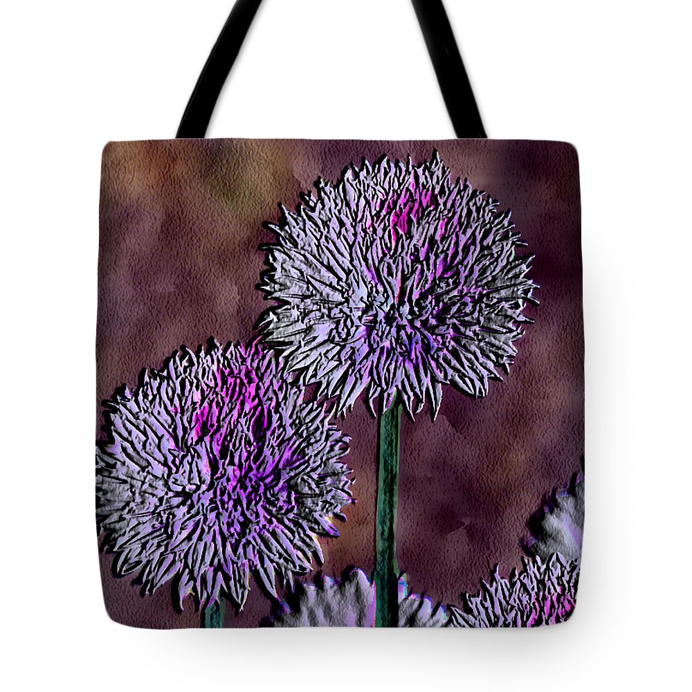 Ebsq Tote Bag featuring the photograph Chives by Dee Flouton