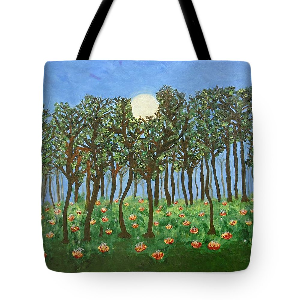 Landscape Tote Bag featuring the painting Chocolate Bark by Sara Credito