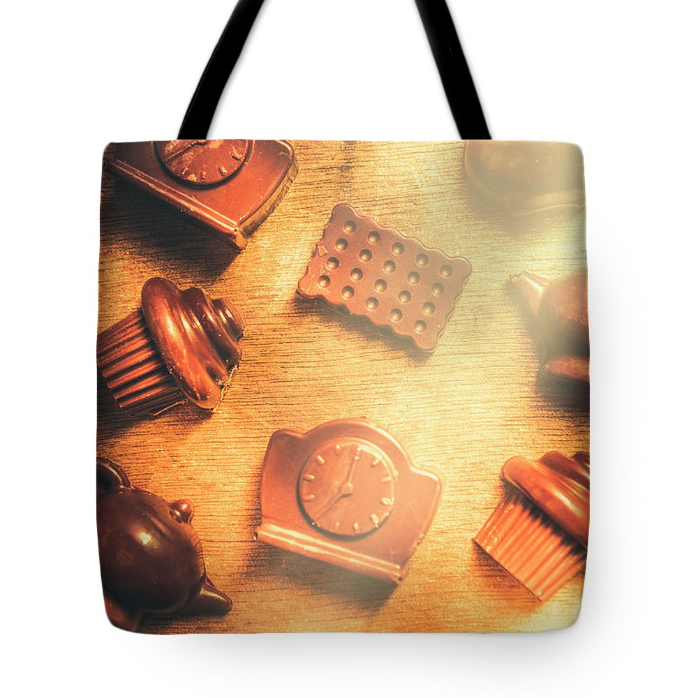 Sweet Tote Bag featuring the photograph Chocolate Cafe Background by Jorgo Photography - Wall Art Gallery