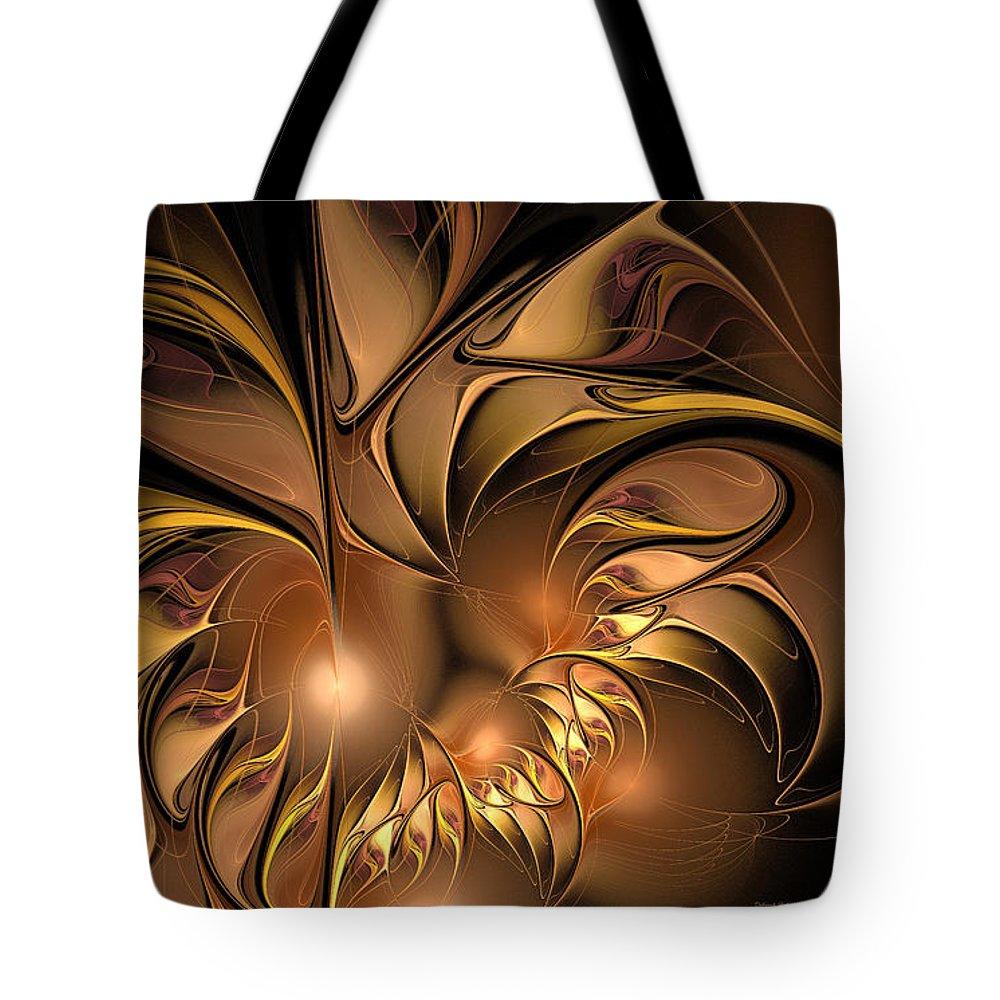 Digital Tote Bag featuring the digital art Chocolate Essence by Deborah Benoit
