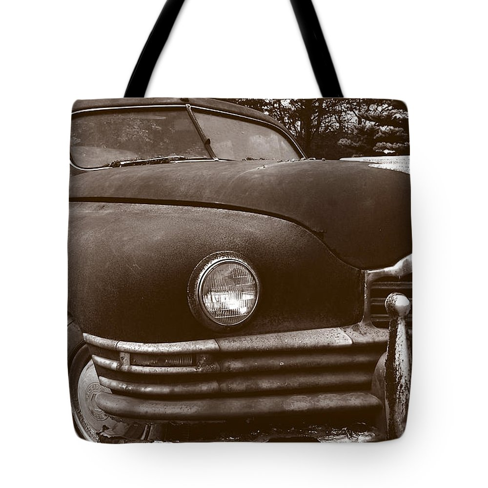 Old Car Tote Bag featuring the photograph Chocolate Moose by Jean Macaluso