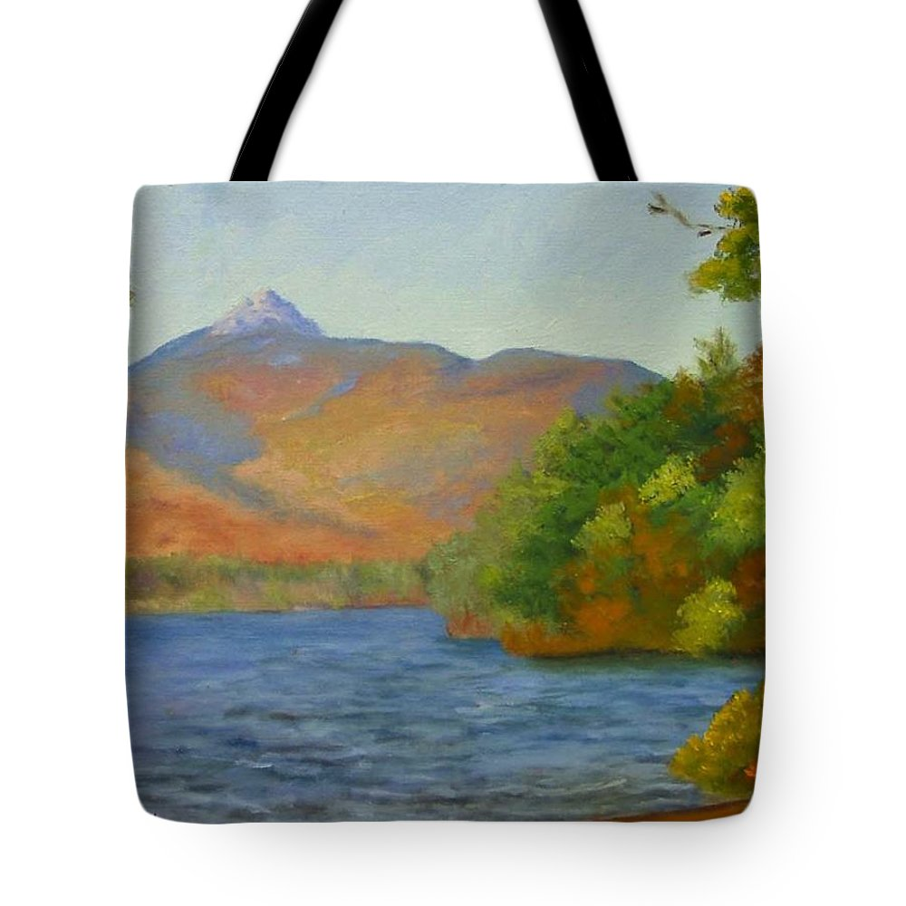 Mount Chocorua And Chocorua Lake Tote Bag featuring the painting Chocorua by Sharon E Allen