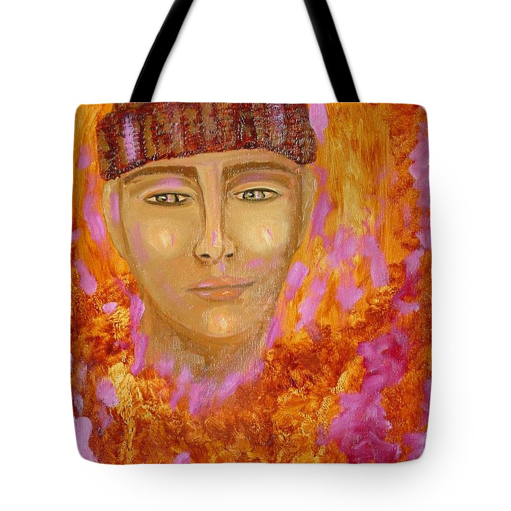 Portrait Tote Bag featuring the painting Choices by Laurie Morgan