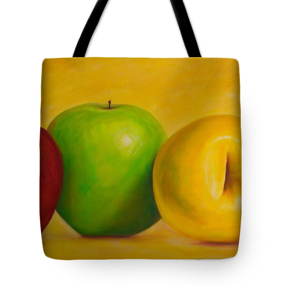 Still Life Tote Bag featuring the painting Chorus Line by Shannon Grissom