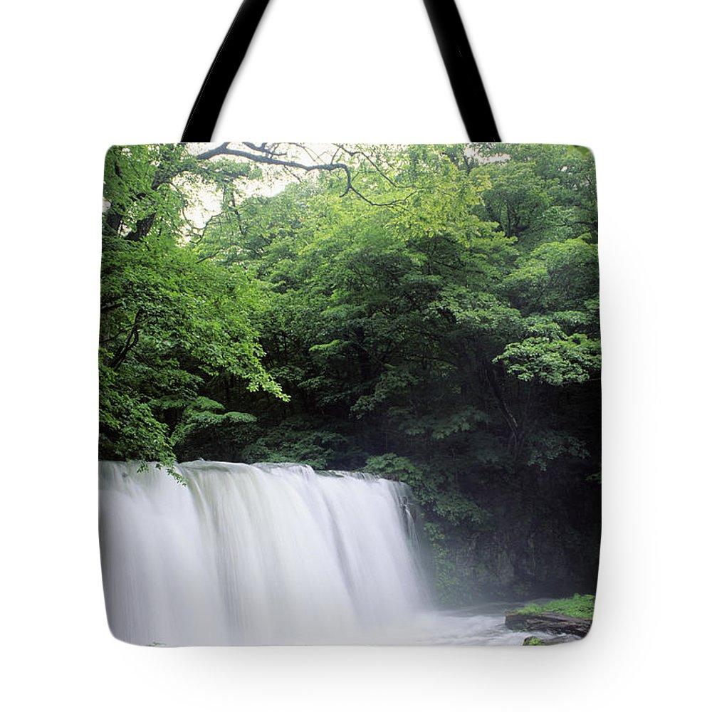 Afternoon Tote Bag featuring the photograph Chosi Otaki Falls by Rita Ariyoshi - Printscapes