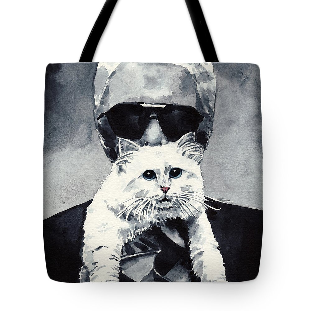 Choupette Cat And Karl Lagerfeld Tote Bag For Sale By Laura Row