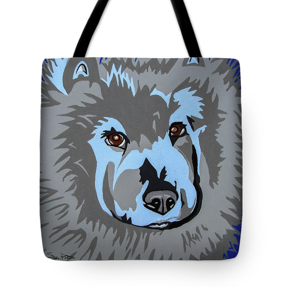 Chow Tote Bag featuring the painting Chow Chow by Slade Roberts