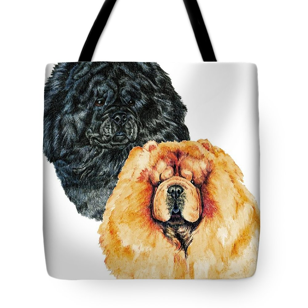 Chow Chow Tote Bag featuring the painting Chow Chows by Kathleen Sepulveda