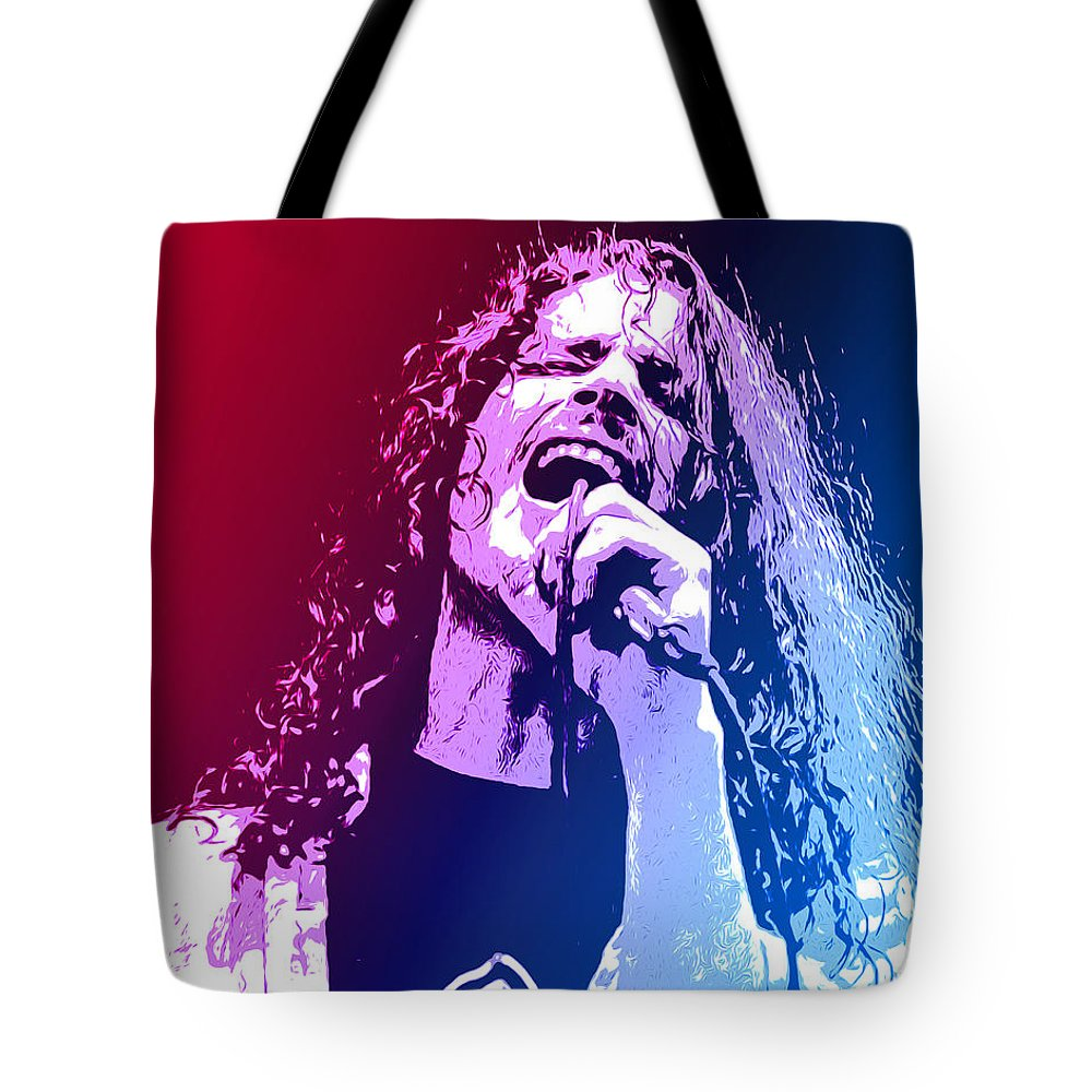 Tribute Tote Bag featuring the mixed media Chris Cornell 326 by Greg Joens