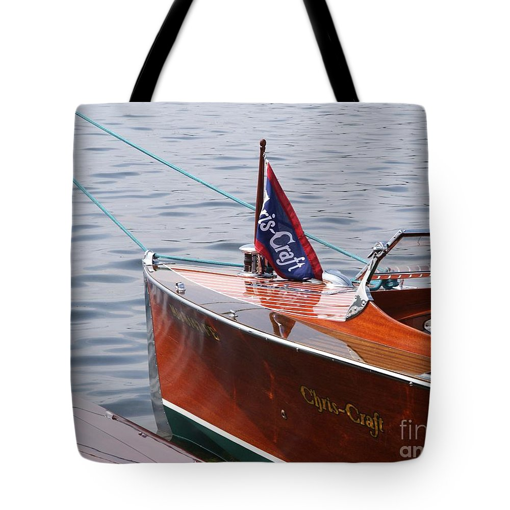 Chris Craft Tote Bag featuring the photograph Chris Craft Runabout by Neil Zimmerman